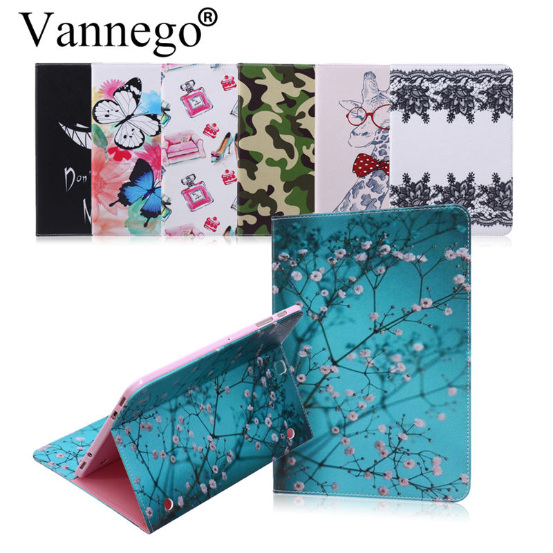 Vannego Case for Samsung Galaxy Tab S2 9.7 T810 T815 Business With HandStrap PU Leather Hold Smart Cover Stand Book Cases Funda
