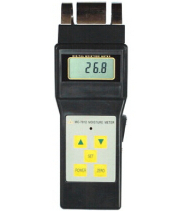 Multifunctional Inductive Moisture Meter For Wood Tobacco, Cotton Paper, Building, Soil and Other Fibre Materials 0-80% mc 7806 wood moisture meter detector tester thermometer paper 50% wood to soil pin