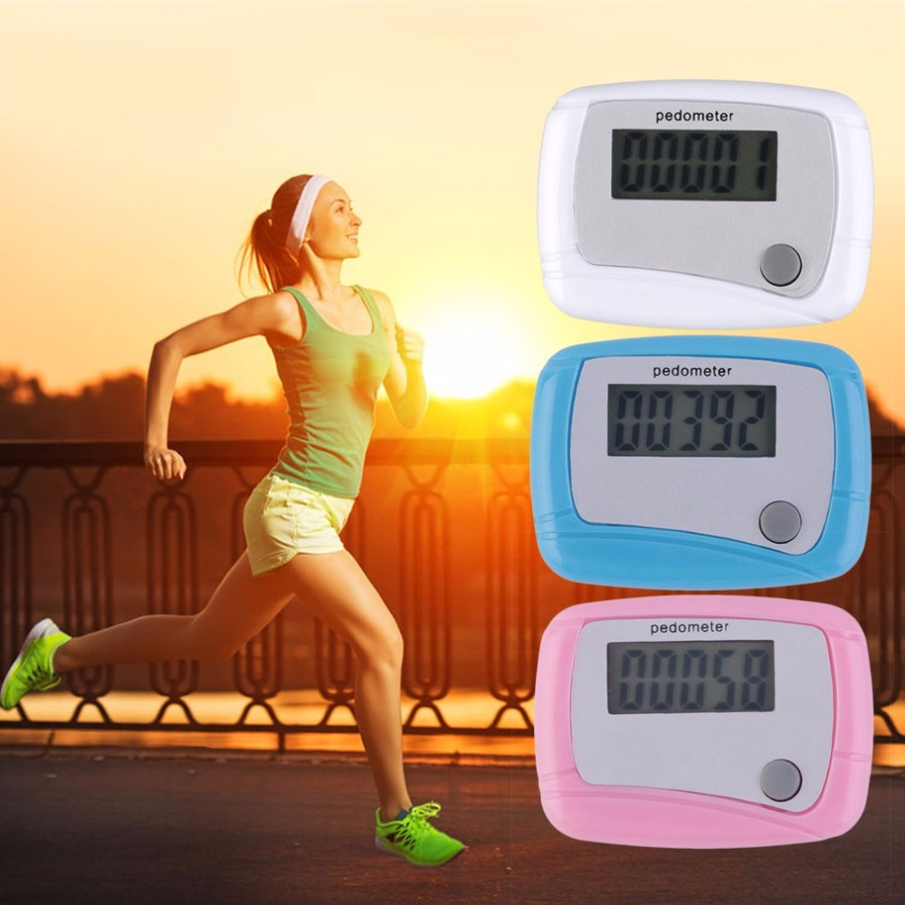 Portable Mini Digital LCD Running Step Pedometer Walking Distance Counter Sports Fitness Tool High Quality Drop Shipping