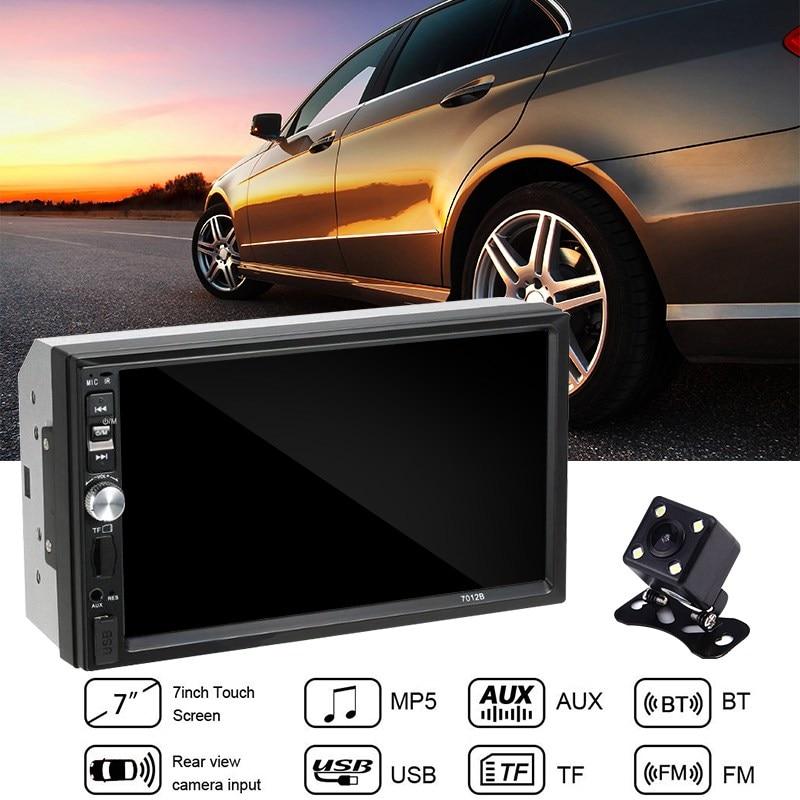 2 Din 7012B Autoradio 7 pouces lecteur HD MP5 écran tactile Bluetooth multimédia dans Dash Autoradio télécommande + caméra de recul