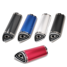 5 Colors Universal Escape Moto Motorcycle Motorcross Scooter Exhaust Pipe Muffler FZ6 Z750 Z800 R3 R6