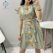 CUERLY Summer Luxury Brand Clothes 2019 Runway Designer Floral Embroidery Women Mini Dress Sexy Backless Female Party Dresses