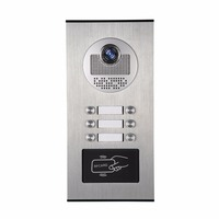 YobangSecurity Metal Aluminum Outdoor RFID Access Control Doorbell Camera For 6 Units Apartment Video Intercom Door