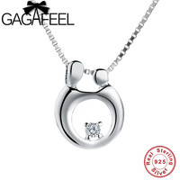 GAGAFEEL Lovely Family Chain Necklaces Women Jewelry 925 Sterling Silver Mummy Child Necklace Pendants Mother S