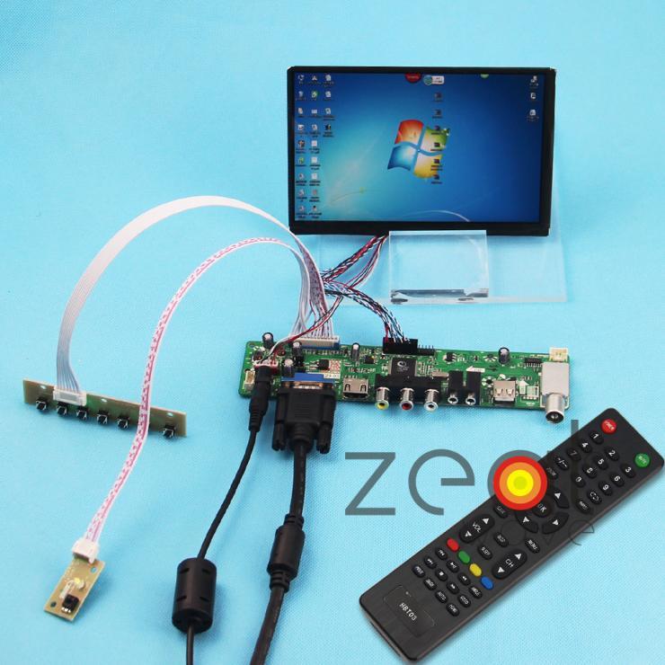 TV/HDMI/VGA/AV/USB/AUDIO Controller Board Card+7inch N070ICG (1280*800) IPS LCD Screen цена