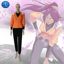 2014 VENTA CALIENTE! Bleach Yoruichi Shihouin Cosplay Mujer Fiesta de Halloween de rol Traje Hecho A Medida