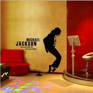 Free Shipping Michael Jackson Wall Sticker Living Room Decor Mural Art Vinyl Wallpaper Home Window Gl