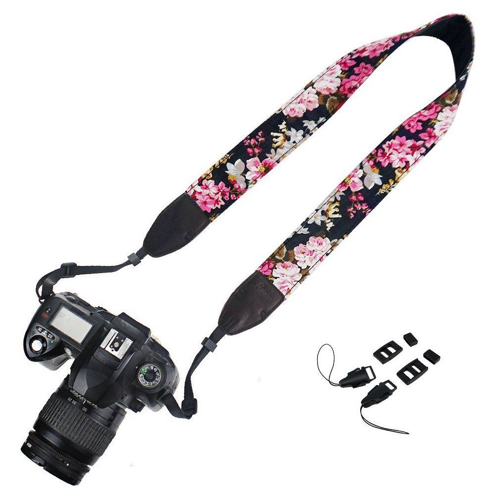 Camera Neck Shoulder Strap Belt for Camera - Flower Floral 5color , the buckle not include ...