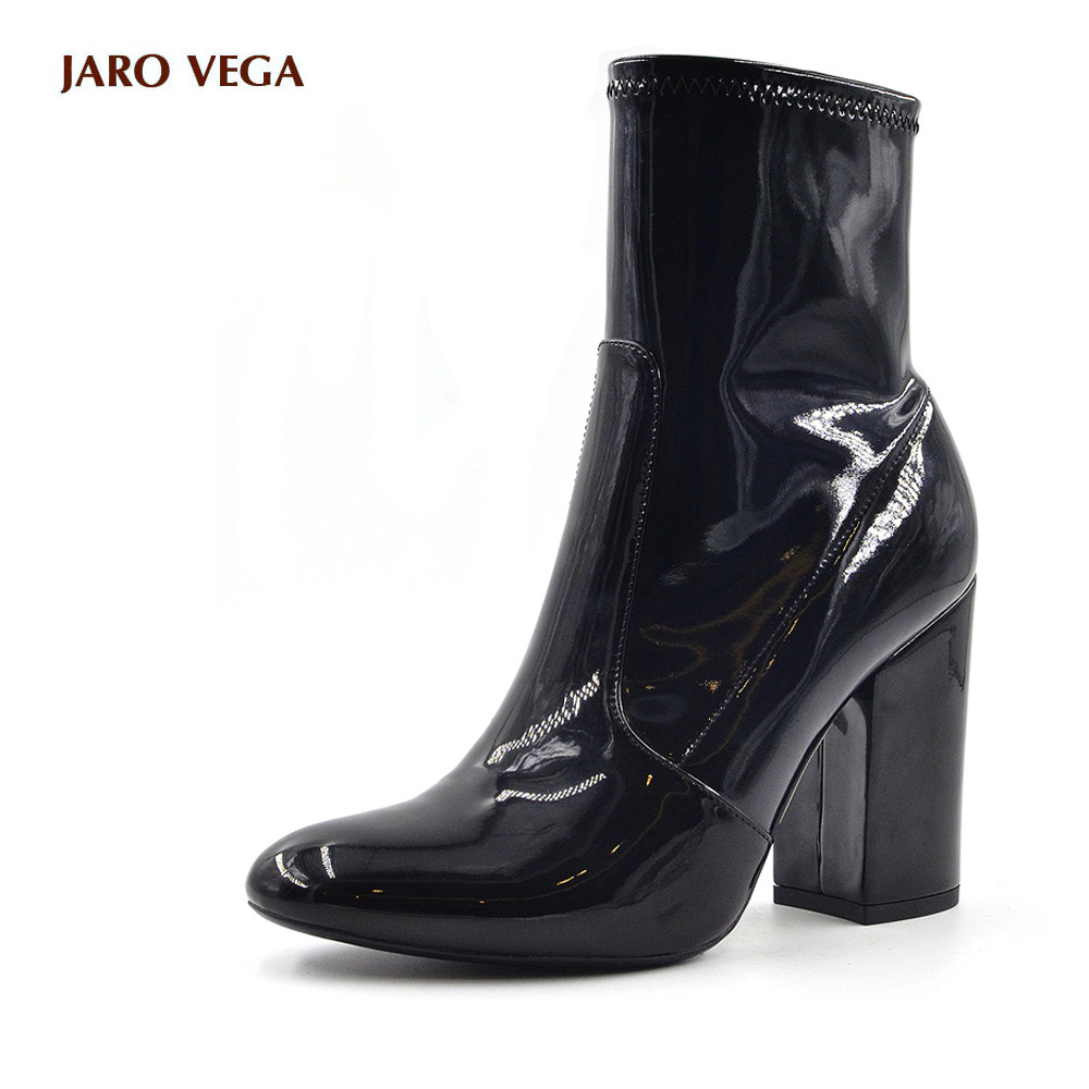 Popular Black Patent Leather Ankle Boots-Buy Cheap Black Patent ...
