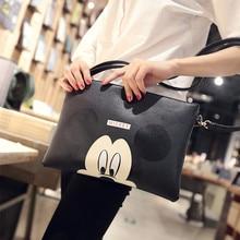 Hot PU Women Hello Kitty Messenger Bag Gilrs Minnie Mickey Bag Leather Handbags Ladies Cartoon Clutch Bag Female Handbag