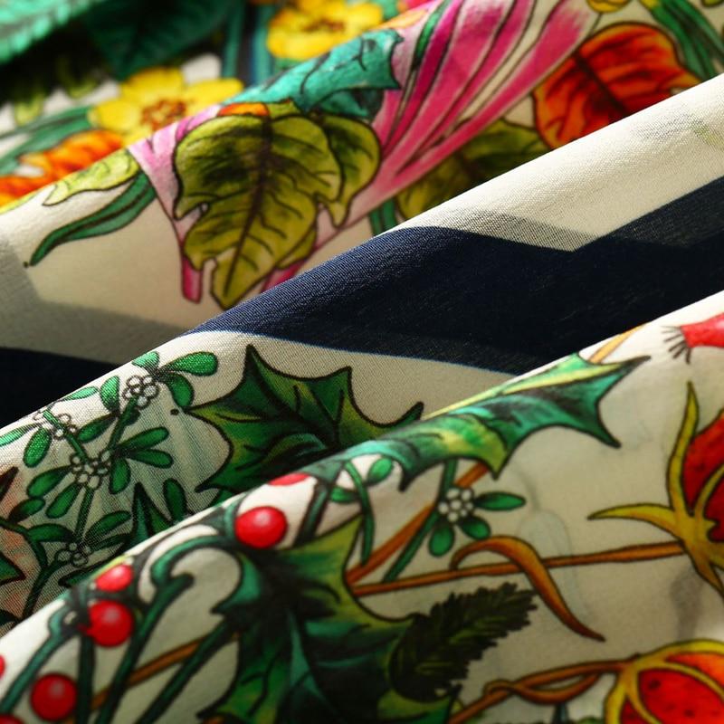 Высококачественная 100% Шелковая женская блузка из легкой ткани с круглым вырезом и длинными рукавами, топы больших размеров, элегантный стиль, новая мода 2019 - 6