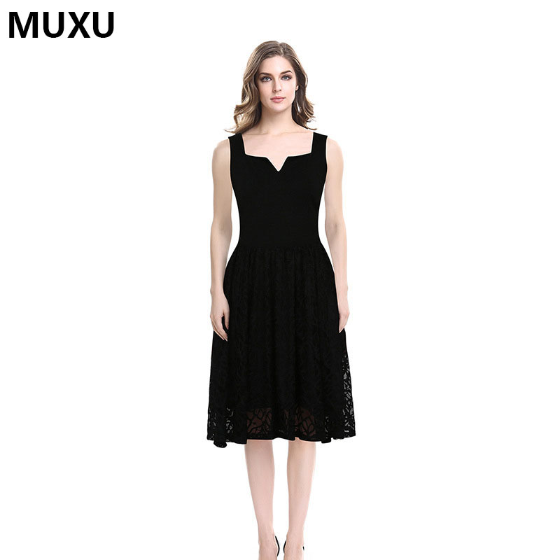 MUXU summer dresses casual RED lace dress plus size women clothing BIG SIZE S-4XL bodycon casual clothes women ladies dresses