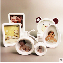 Baby photo frame cartoon creative Kids childrens lovely set up 6-7 inch