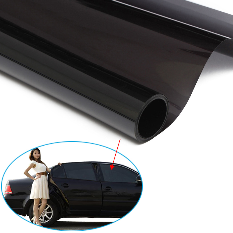 Hot Sale Cars Window Foils Solar Protection Ultra Limo Black Window Tint Film V 1% Auto Car House Roll 50cm*6m 2017 XR65