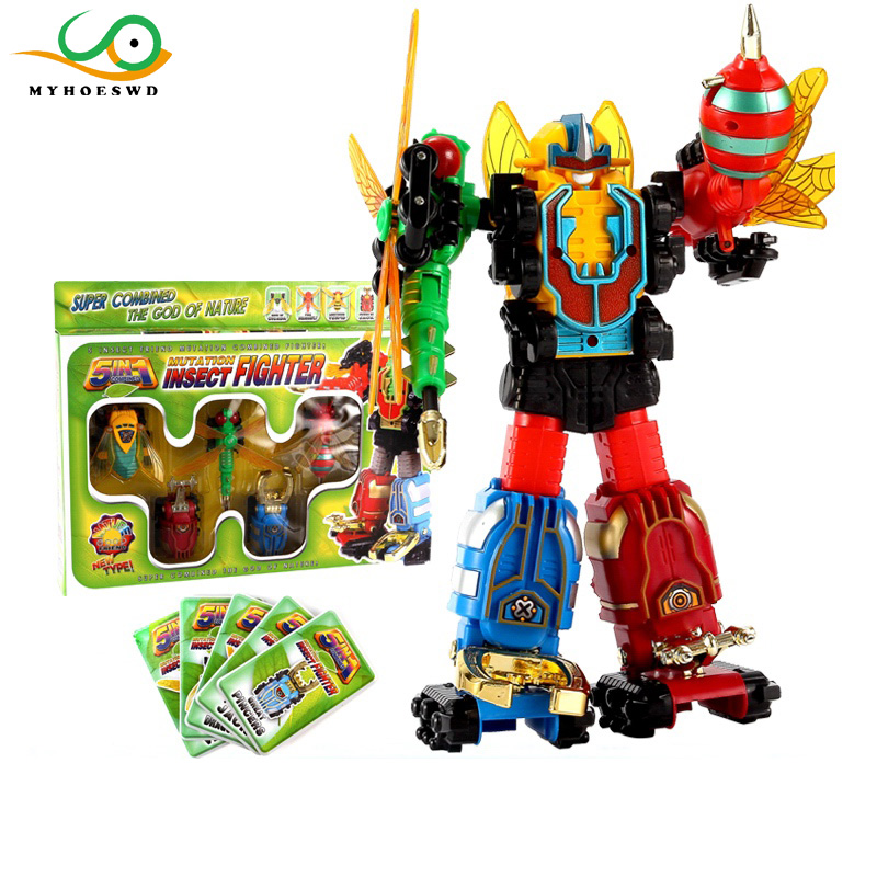 MYHOESWD Insect Robot Deformation Toys Action Figure Transformation Robot Monster Toy for Kids Model Toy Boys Juguetes for Gifts mini robot deformation toys car model action figure gifts for children classic toy robocar transformation brinquedos page 6