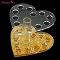 12 Holes Nail Art Makeup Acrylic Brush Pen Holder Stand Make up Cosmetic Organizer Brushes Display Rack Tool Heart Shape Plastic