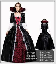 Women Cosplay Costume Vampire Witch Long Dress Clothes Sets Adult Halloween Fancy