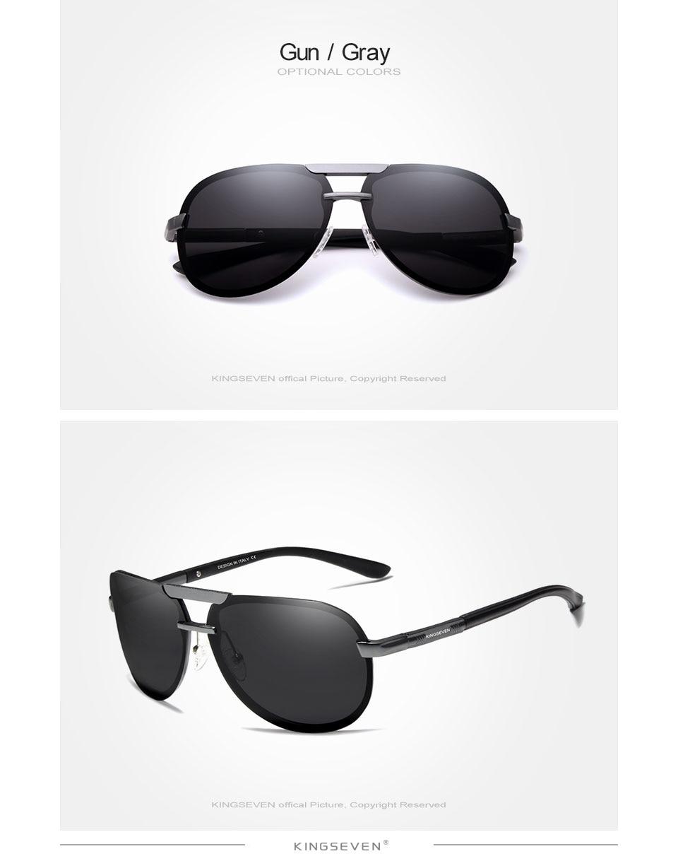 KINGSEVEN BRAND DESIGN New Polarized Rimless Sunglasses Men Women Driving Pilot Frame Sun Glasses Male Goggle UV400 Gafas De Sol