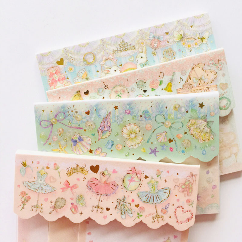 60 Pages 2+1 Lace Style Princess Flowers Dress Rabbit Memo Pad Sticky Notes School Office Supply Stationery Notepad