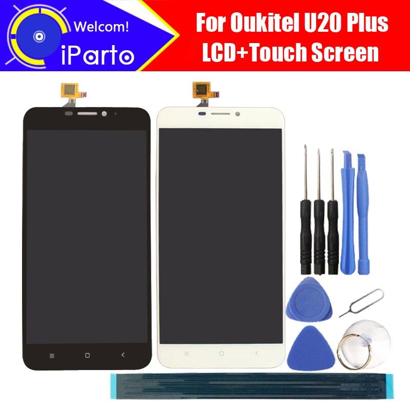 5.5 pouce Oukitel U20 Plus Ecran lcd + Écran Tactile Digitizer Assemblée 100% Original Nouveau LCD + Tactile Digitizer pour U20 Plus + Outils