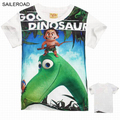 The Good Dinosaur Tops Shorts boy girlst shirt top quality summer children kids short sleeve t shirt for 3-8Years SAILEROAD