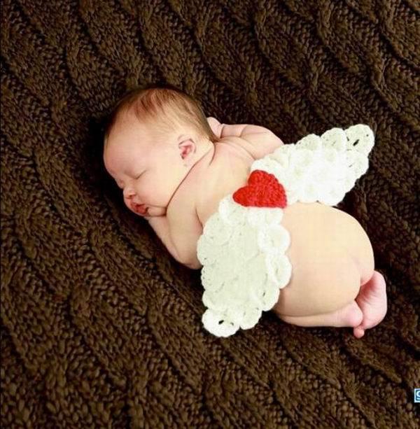 Engelenvleugels Wit Baby Foto Props Rood Hart Kostuum Outfits