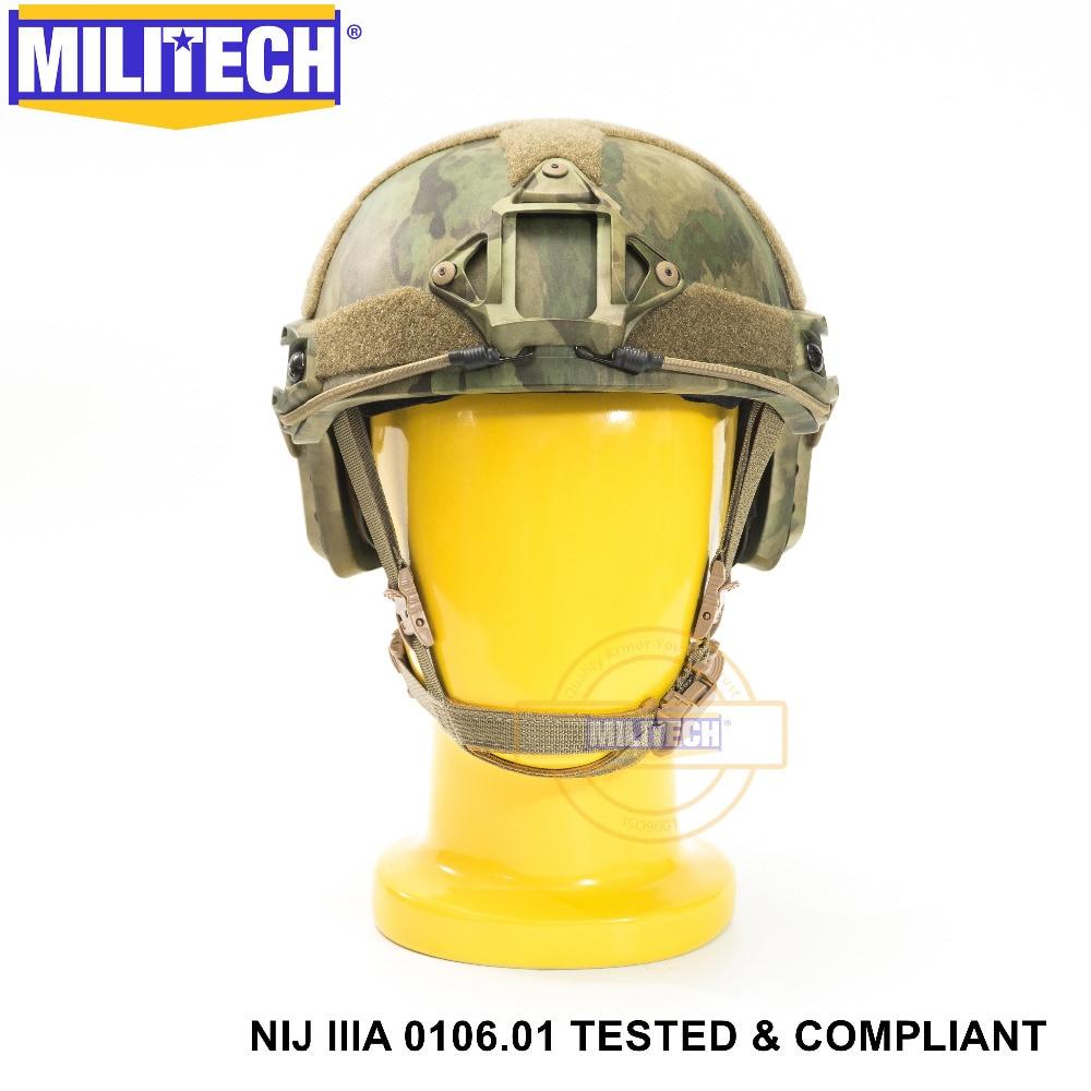 ISO Certified 2019 New MILITECH ATACS FG NIJ Level 3A FAST High XP Cut Bulletproof Aramid Ballistic Helmet With 5 Yrs Warranty