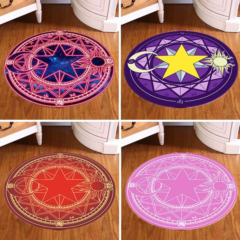 japan pentagram children trend round carpet fashion cartoon style livingroom computer Magic circle desk chair pad thin mat rug