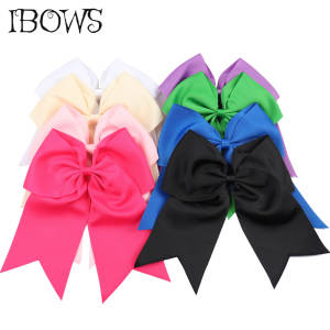 IBOWS Large Ribbon Cheer Bow Dance Hair Bows Barrette