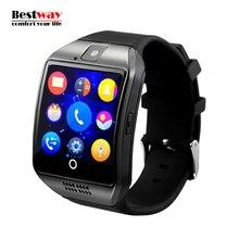 Q18 Smartwatch Tragbare Geräte Kamera Reloj Inteligente MTK6260A TF NFC Bluetooth Support Facebook Twitter Whatsapp PK DZ09