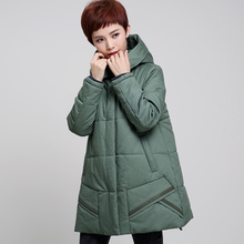 2017 Winter fattening code fat mm cotton long loose women in the elderly middle – aged mothers down clothes