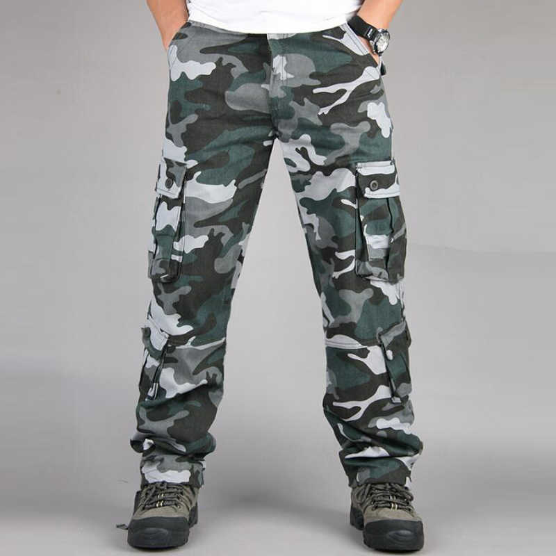 acd0281190 Camouflage Military Pants Men Casual Camo Cargo Trousers Hip Hop Joggers  Streetwear camo pants Urban Overalls