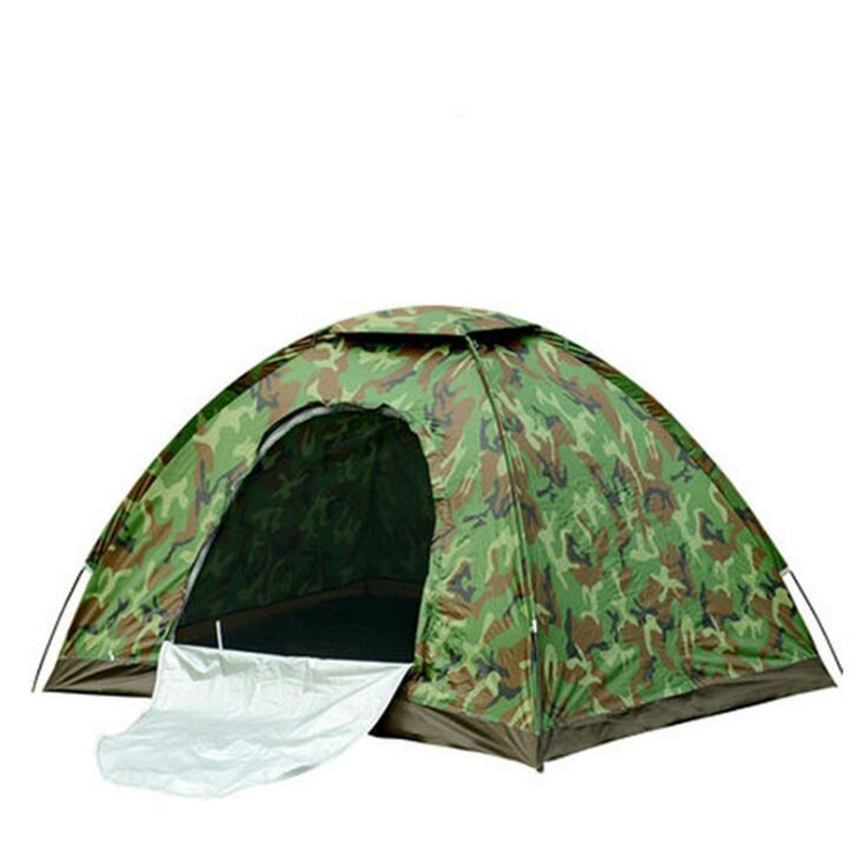 4 Person Camouflage Camping Tent 200x200x130cm Outdoor Camp Folding Hiking Tenda Single layer beach tente bivvy tourist tents outdoor camping hiking automatic camping tent 4person double layer family tent sun shelter gazebo beach tent awning tourist tent