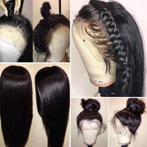 Image 3 - Кружевные парики Fabwigs, полностью кружевные парики с детскими волосами, предварительно отобранные бесклеевые парики из человеческих волос, Искусственные парики для головы, отбеленные узлы