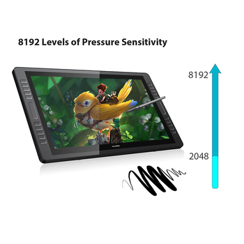 HUION KAMVAS GT-221 Pro 8192 Levels Pen Display Drawing Tablet Monitor IPS  LCD HD Screen 10 Press Keys - 21 5 Inch