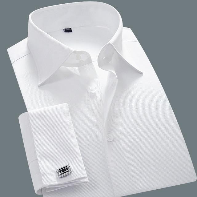 Brand White Camisa Masculina Long Sleeve Shirts Men 2015