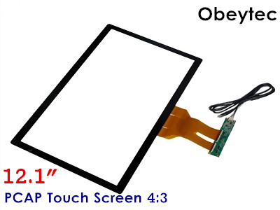 Obeytec 12.1inch PCAP 10 Touch points Touch Screen Panel, 4:3, 3MM Thickness, With USB Controller 10 2inch 4 wire touch panel with usb controller card for 10 2 lcd screen