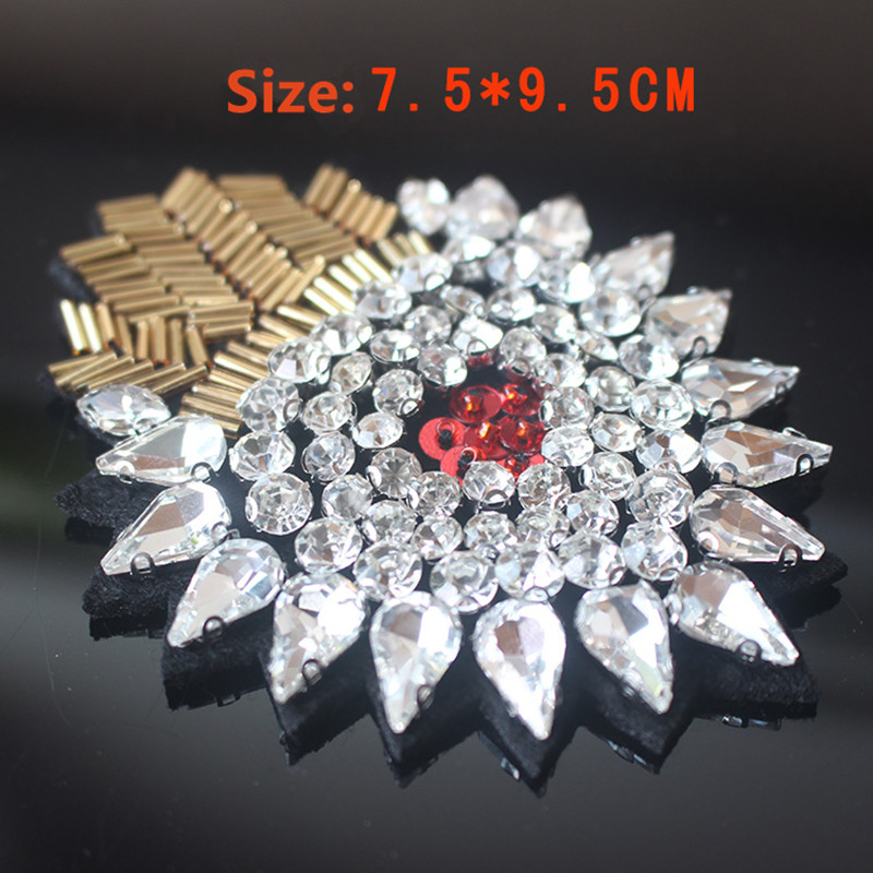 AHYONNIEX Fashion clothing DIY accessories heavy drilling beaded patch coat fur coat decorative sunflower flower patch