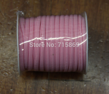 Free Ship 5mm 20meter / Row Pink Elastic lycra cord Stitched round lycra cord Lycra strip For Jewelry Marking фото