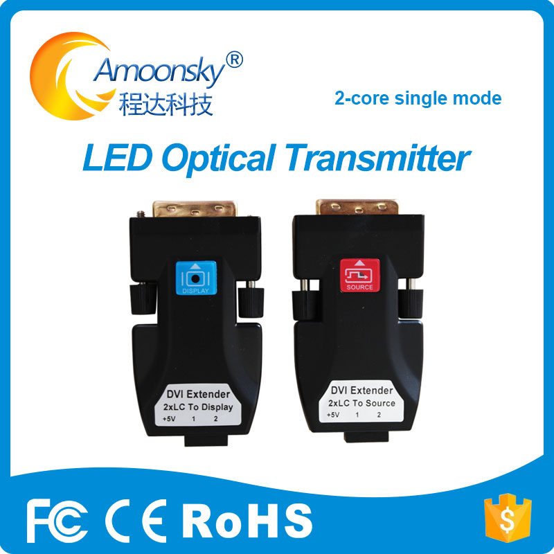 Quality Optical Fiber Dvi Extender Amoonsky Dtr2l Support 500m 2km Transmission Distance For P6 P7.62 P8 P10 Rgb Led Screen Module Superior In