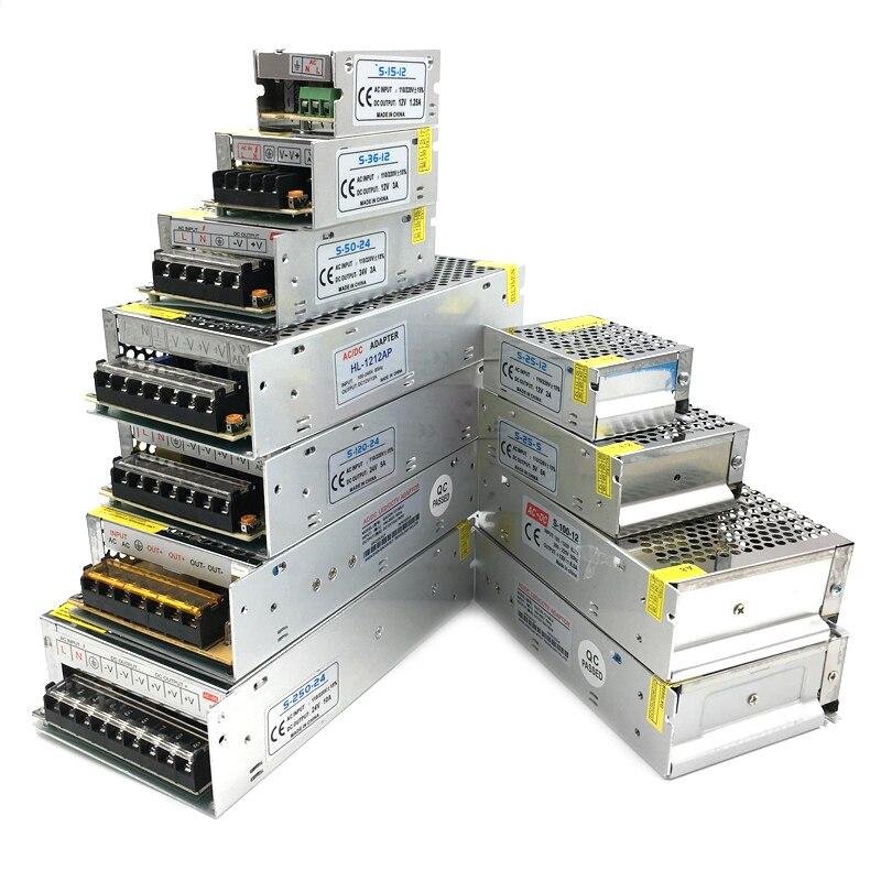 Power Supply For RGB led strip light Lamp DC 5V 12V 24V 3A 5A 10A 15A 20A 5 12 24 V Led Light Strip Adapter