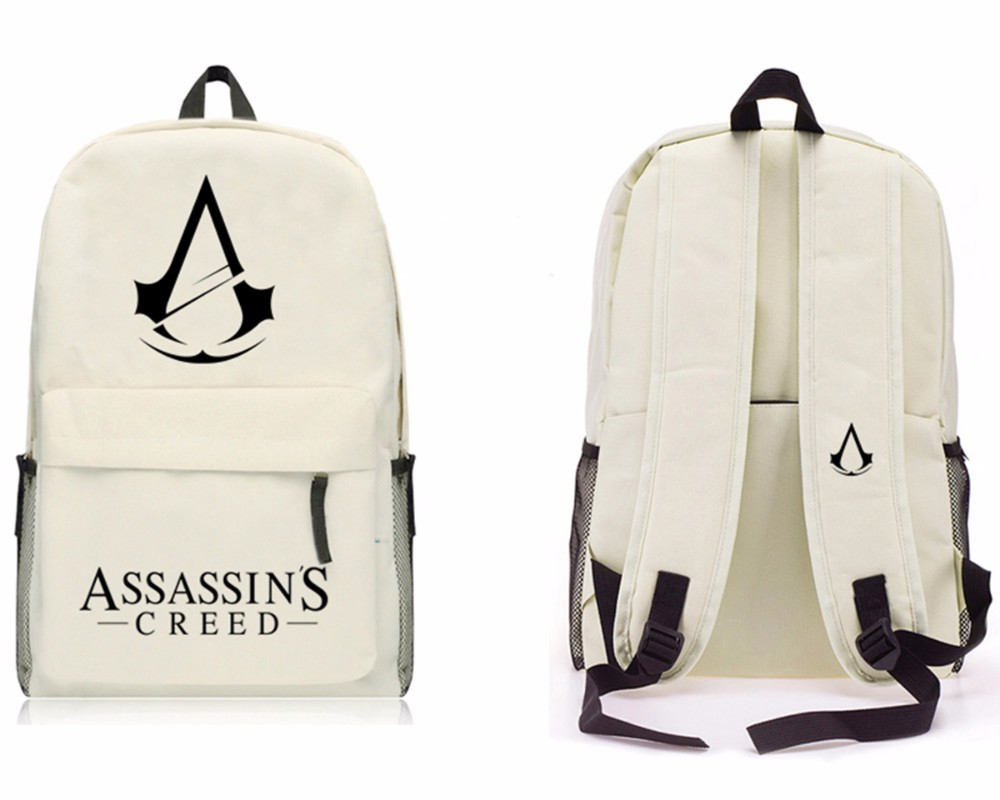 Game Assassins Creed backpack School Student Bag Shoulders Package Men And Women Travel Computer Backpack 10 style assassins creed cosplay backpack men school bags official assassins creed syndicate logo school backpacks bag rucksack