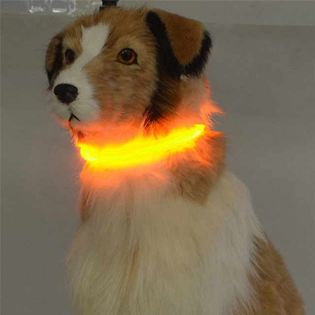 New Arrival Rechargeable USB Waterproof LED Flashing Light Band Safety Pet Dog Collar Wholesale Free Shipping 30RJ9