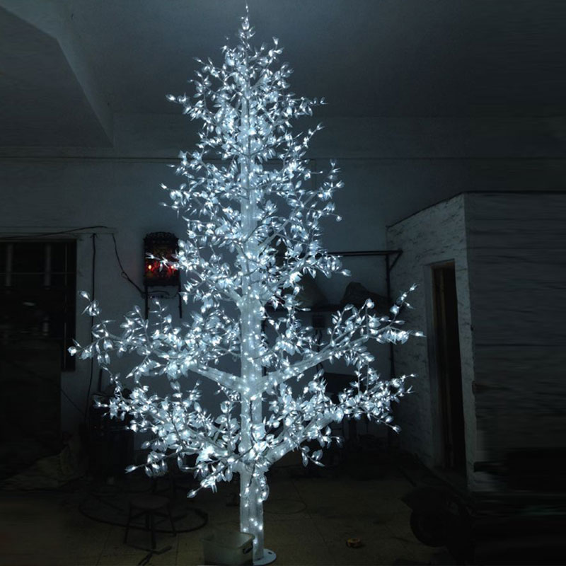 50meter 4320led christmas easter lights bulb led tree for outdoor garden light decoration with white - Blue And White Outdoor Christmas Decorations