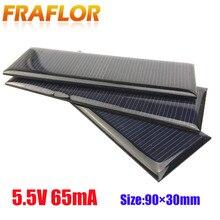 العالمي 5.5 فولت القياسية الايبوكسي الألواح الشمسية الخلايا الشمسية الصغيرة الكريستالات السيليكون لتقوم بها بنفسك بطارية وحدة شاحن الطاقة 90x30 مللي متر
