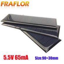 Pannelli solari epossidici Standard universali 5.5V Mini celle solari silicio policristallino modulo caricabatterie 90x30mm