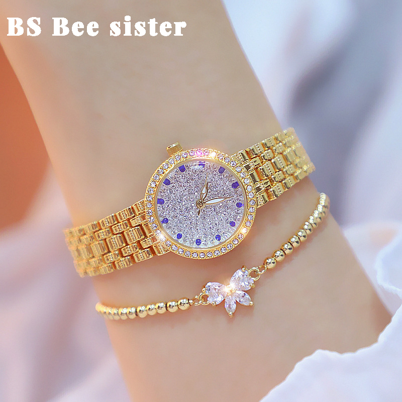 Women Watches 2019 Famous Brand Stylish Creative Diamond Small Gold Ladies Wrist Watch Female Wristwatch bayan kol saati 2020(China)