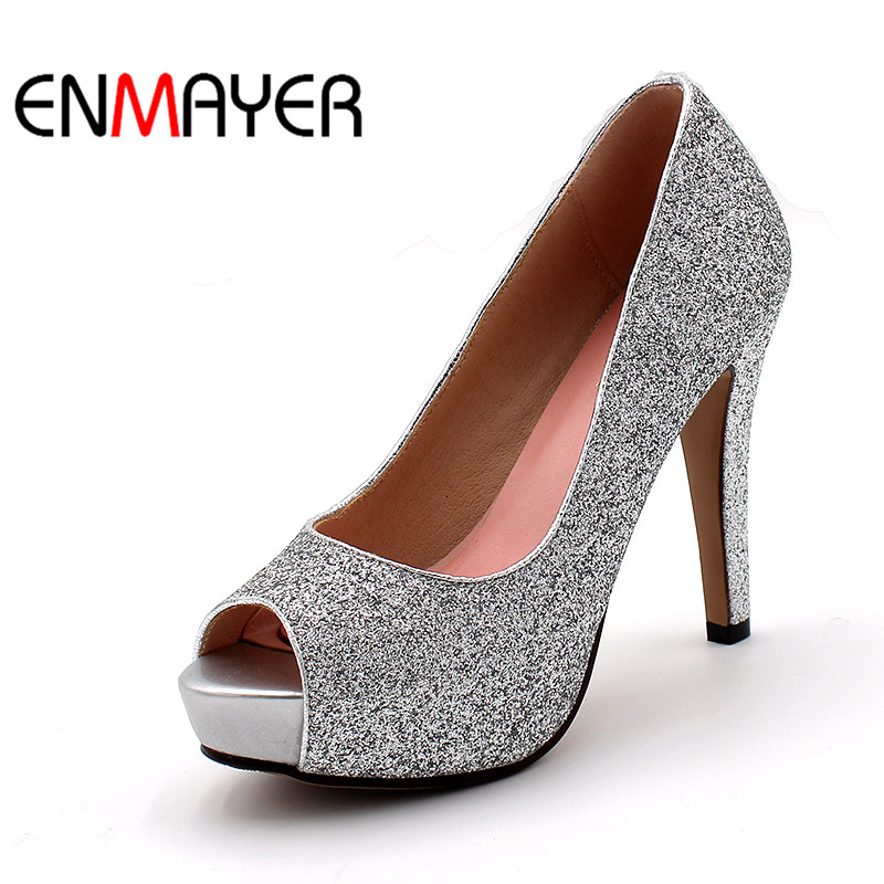 Ladies Black And Silver Party Shoes
