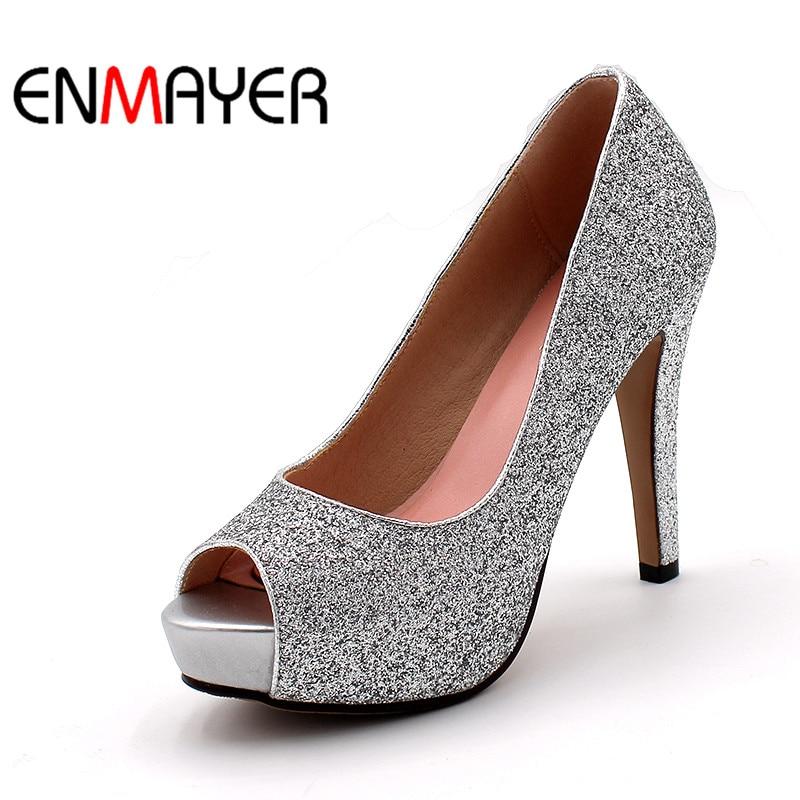 plus size 34 43 women fashion pumps high heels black. Black Bedroom Furniture Sets. Home Design Ideas