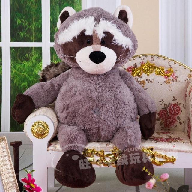 large 75cm gray raccoon doll soft plush toy throw pillow home decoration birthday gift h2872 купить